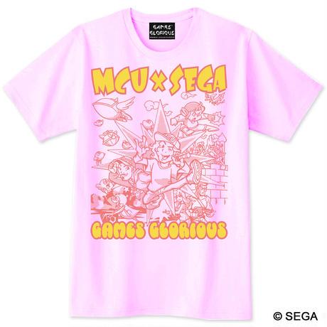 MCU x SEGA Sound Collection 記念Tシャツ -ライトピンク-