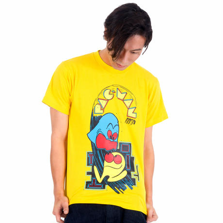 パックマン Arcade Comic`s T-Shirt (Yellow)