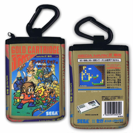 ALEX KIDD SEGA MARK III箱型 携帯ポーチ