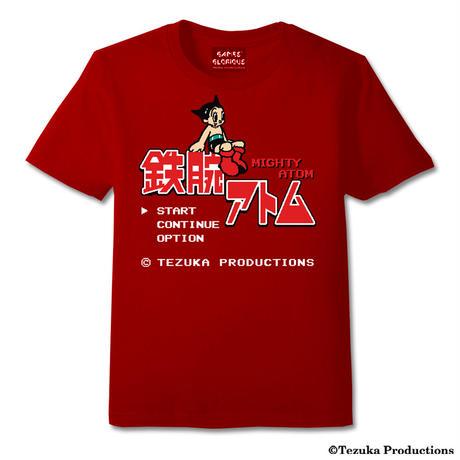 鉄腕アトム 8-bit Title  Tシャツ -RED-