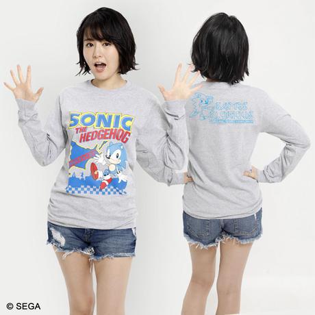 限定10枚!SONIC THE HEDGEHOG x HOKKAIDO ロングTシャツ -GRAY-