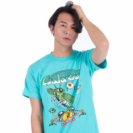 ギャラクシアン Arcade Comic`s Tシャツ (Aqua)