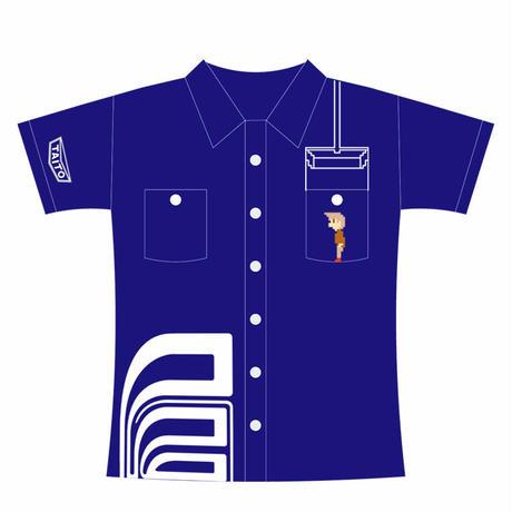 【SOLD OUT】エレベーターアクション  ワークシャツ (ブルー) *在庫切れ・注文不可商品