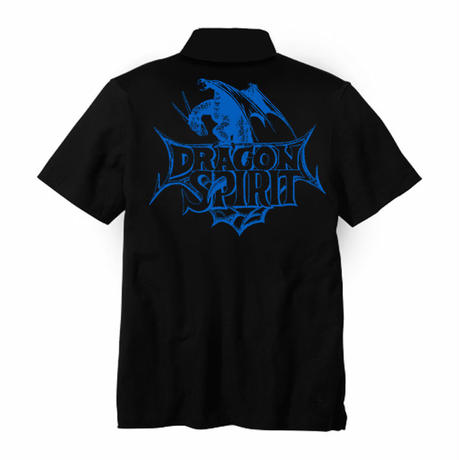 Dragon Spirit 30th Anniversary POLO Shirt  -Single Head- (BLACK)