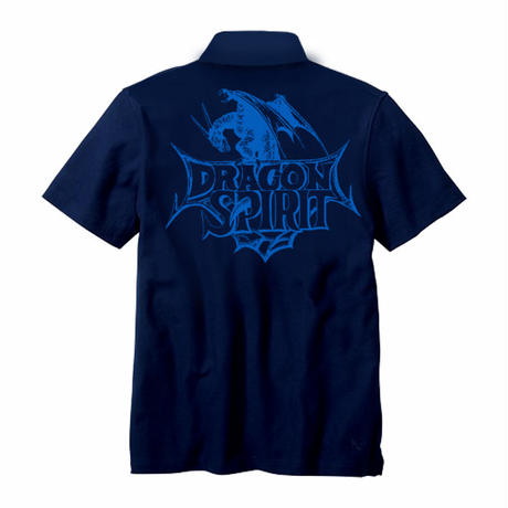Dragon Spirit 30th Anniversary POLO Shirt  -Single Head- (NAVY)