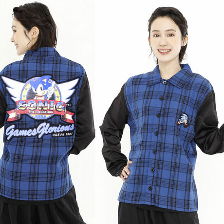【SONIC THE HEDGEHOG】 Plaid Shirt
