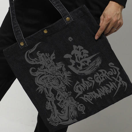【KEITAAMEMIYA x GAMESGLORIOUS】K.A.Denim Totebag-Dark Knight-