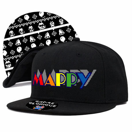 MAPPY Snapback Cap  (BLACK)