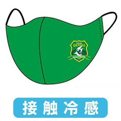 ガネーシャ静岡AFC 接触冷感マスク【緑・黄セット】