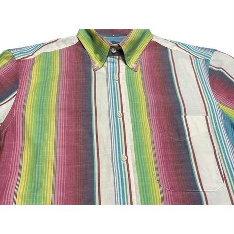 MADE IN USA製 GITMAN BROS Vintage メキシカンラグカラー半袖シャツ マルチカラー Sサイズ