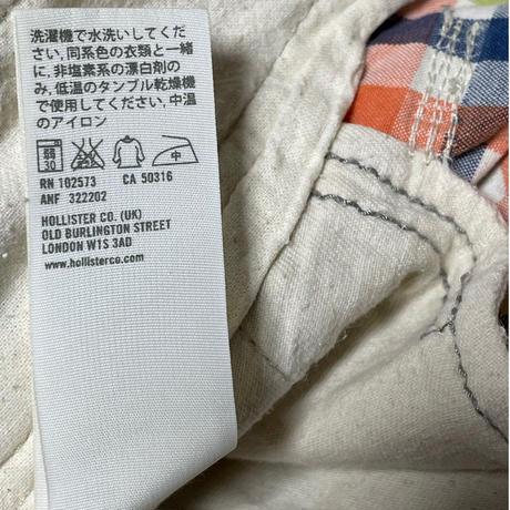 HOLLISTER チェック柄ハーフパンツ マルチカラー W30サイズ