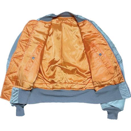 MADE IN USA製 HOPE MFG INC MA-1ジャケット シルバーカーキ Sサイズ