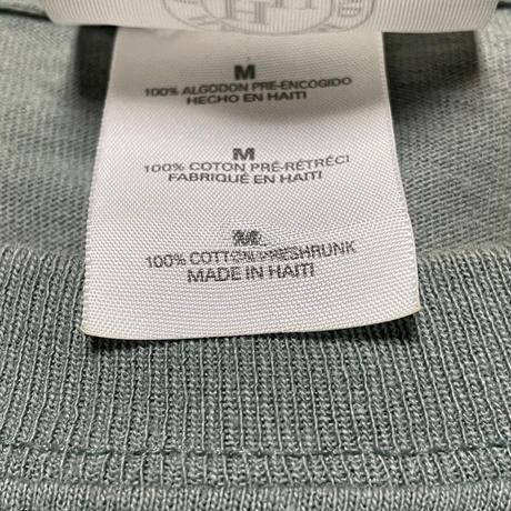 HARLEM UNDERGROUND ロゴプリント半袖Tシャツ セージグリーン Mサイズ