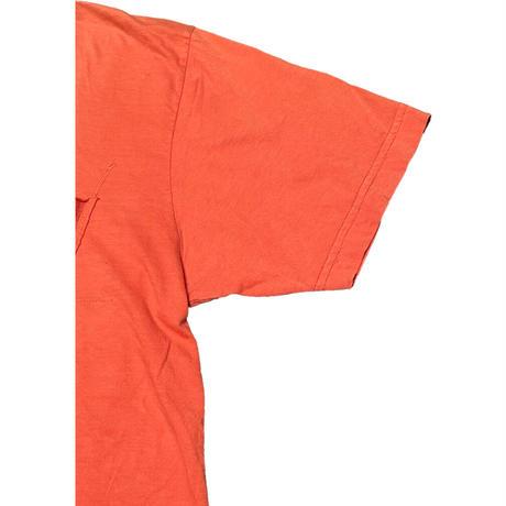 MADE IN USA製 Salvage ロゴプリントTシャツ オレンジ Mサイズ