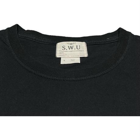 S.W.U standard surplus uniform S.W.A.T. 半袖Tシャツ ブラック Lサイズ