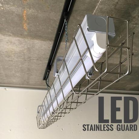 【GR-1LSG02】ダクトレール用 1灯 LEDライト  半ツヤグレー ステンレスガード 照明器具