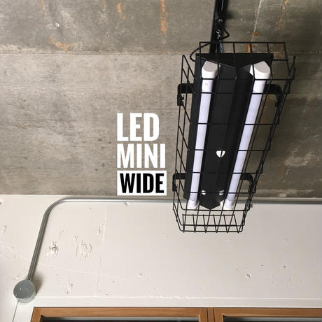 【B-2L20GW】配線ダクトレール用 2灯LED ライト つや消し黒  ガード付き 照明器具