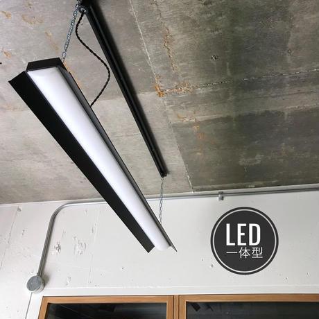 【B-2LS】 ダクトレール用 一体型LEDライト 笠付き  つや消しブラック