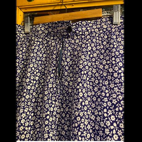 [USED] 小花柄フレアスカート/ ブルー