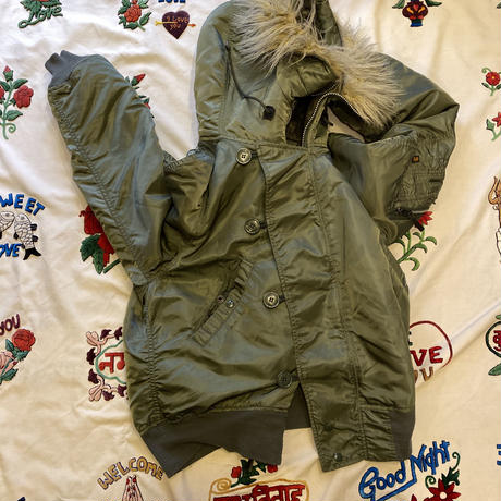 [USED]  OLD N-2B JKT made in USA. OLIVE