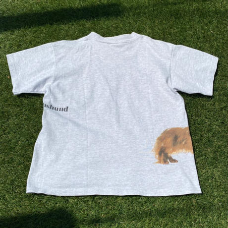 """[USED] かわいっ❤️""""Long haired Dachshund """" Tee🐶"""