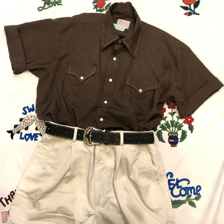 [USED] 70's H BAR C S /S ウエスタンシャツ🐄