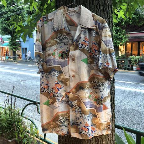 [USED] vintage 和柄ALOHAシャツ