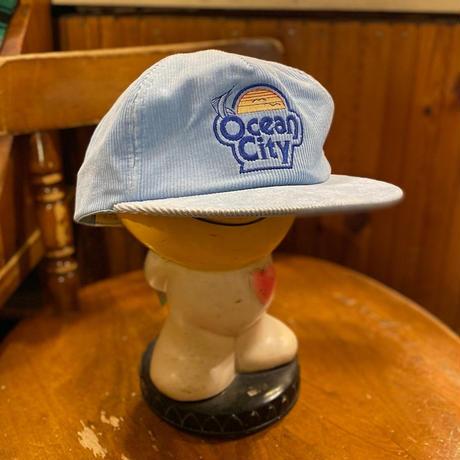 """[USED] 80's コーデュロイCAP """"Ocean City"""""""