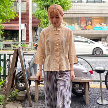 [USED] BEIGE CHINA BLOUSE♡
