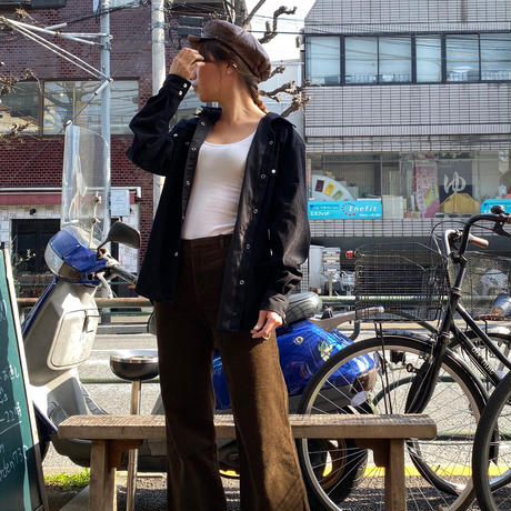[USED] leather キャスケット