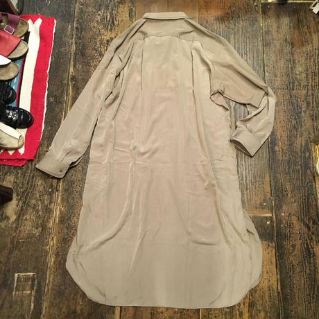 [USED] 刺繍入りオーバーサイズ シャツワンピース