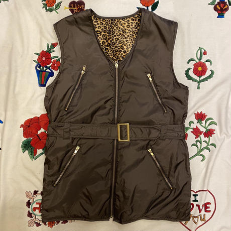 [USED] REVERSIBLE LONG VEST♡