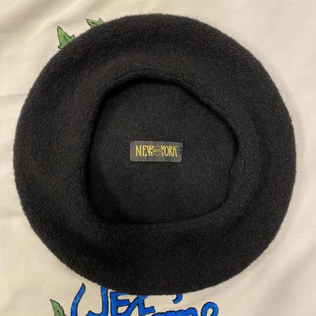 [USED] ふんわり柔らか 黒のベレー帽
