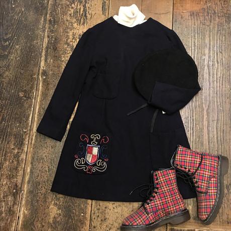 [USED] 刺繍付き♡かわいい VINTAGE miniワンピース