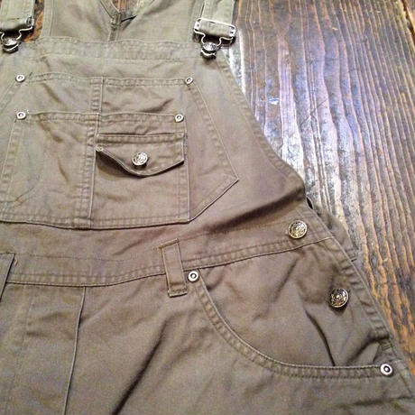[USED] OVER ALL shorts  olive