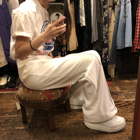 [USED] 70's WHITE  POLY PANTS♡