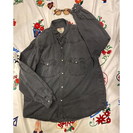 [USED] 90~00's Levis BLACK  デニムシャツ