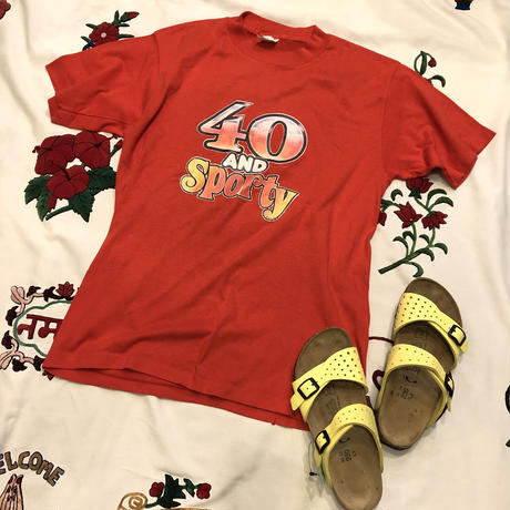 """[USED] """"40 and sporty""""  Tee♡"""