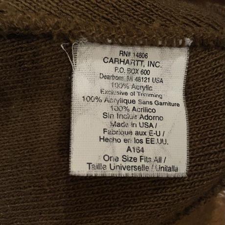 [USED] Carhartt  ツバ付き ニットCAP made in USA.