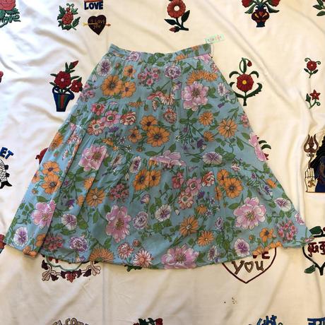 [USED]鮮やか〜花柄フレアスカート