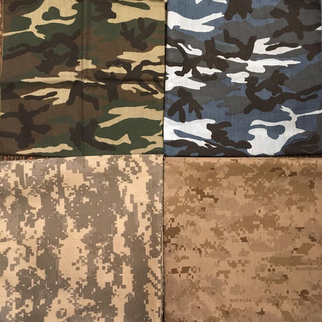 [SELECT] CAMO 柄 BANDANA [made in USA]