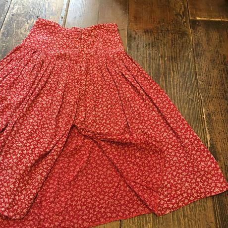 [USED] レーヨン小花柄ロングスカート