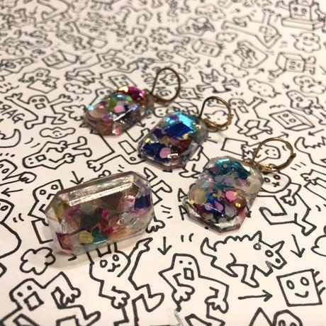 [BENICOTOY] クリア  キラキラ宝石リング
