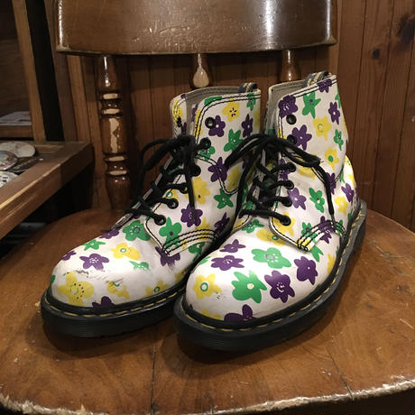 [USED] Dr.Martens  花柄 6HOLE  made in England!