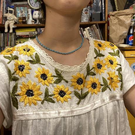 [USED]ひまわり刺繍ワンピース