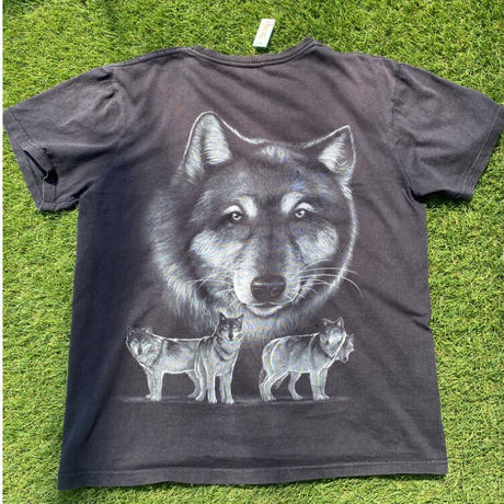 [USED]オオカミ犬プリント Tee