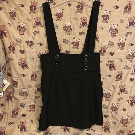 [USED] M●ckey???BLACKジャンパースカート