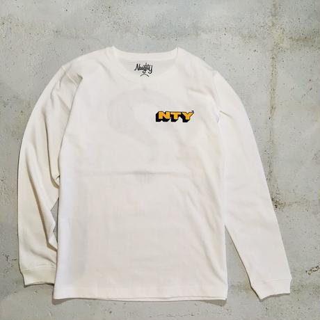 [Naughty] 7.1oz CARRY A QUESTION  WHT L/S Tee