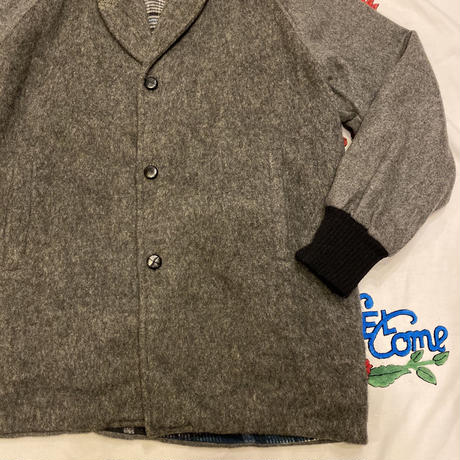 [USED] GREY WOOL HALF COAT!