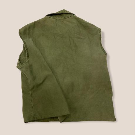 [USED] vintage US ARMY 袖CUT OFF